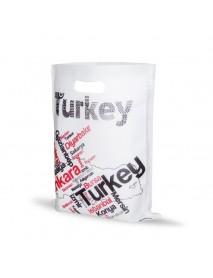 Küçük Boy Türkiye Haritalı Elgeçme Bez Çanta