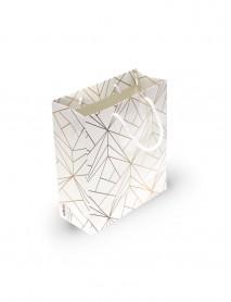 Geometrik Desen Karton Çanta (Küçük Boy)