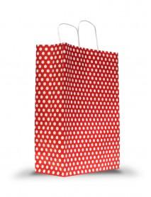 Puantiyeli Büyük Boy Kağıt Çanta