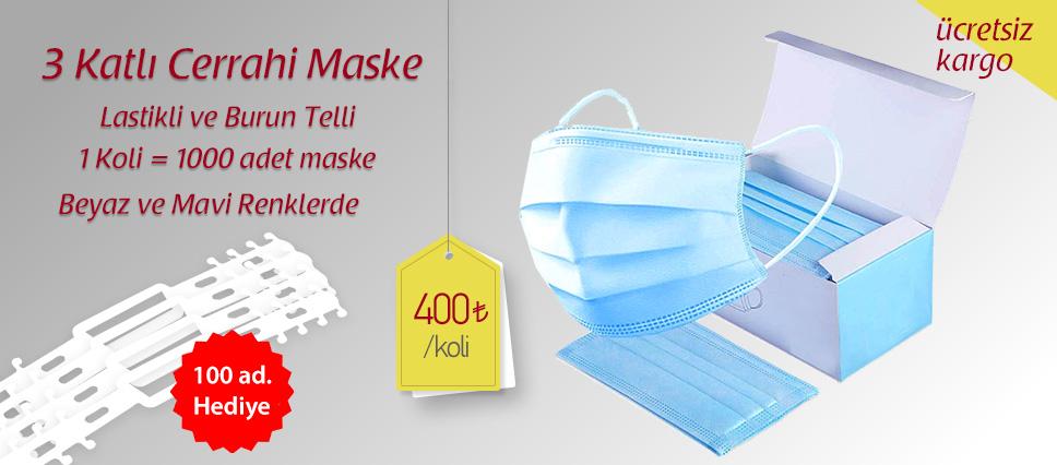 3 Katlı Cerrahi Maske